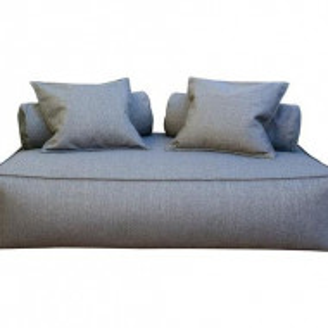 Divan Panama Class, textil, gri, 150 x 110 x H45 cm