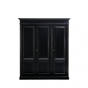 Dressing Ancelin, lemn masiv, negru, 201 x 170 x 60 cm