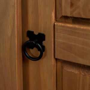 Dulap cu 2 uși din lemn masiv de pin
