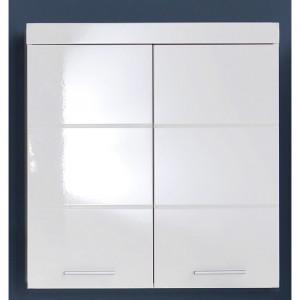 Dulap de baie suspendat Neema, alb, 77 x 73 x 23 cm