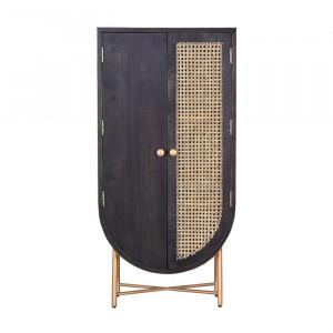 Dulap Occoquan, negru/maro, 142 x 70 x 48 cm