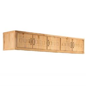 Dulap suspendat Antresole Home Affaire, lemn masiv, 5 usi, natur