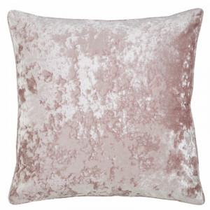 Fata de perna Crushed Velvet, catifea roz pudra 45cm H x 45cm