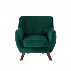Fotoliu Bodo, lemn masiv, verde smarald, 81 x 80 x 84 cm