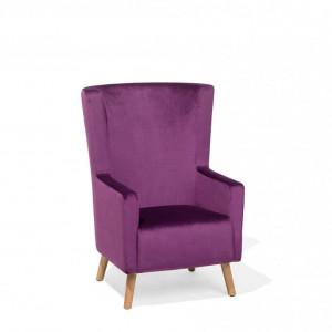 Fotoliu Oneida, catifea, violet, 74 x 60 x 108 cm
