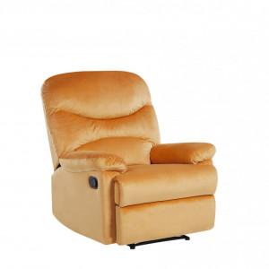 Fotoliu recliner Eslov, catifea, galben, 85 x 90 x 103 cm