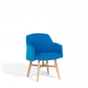 Fotoliu YSTAD, textil, albastru, 58 x 50 x 78 cm
