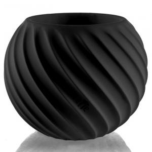 Ghiveci Dowden, beton, negru, 12 x 13 x 13 cm
