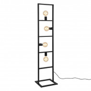 Lampadar Cloverfield, metal, negru, 142,5 x 31 x 31 cm, 60w