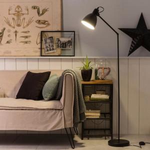 Lampadar Priddy, metal, negru, 137 cm, 40w