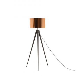 Lampadar tripod STILETTO, negru/copper