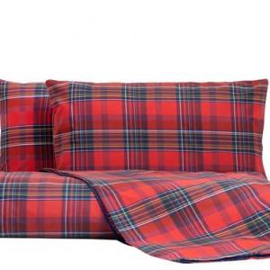 Lenjerie pentru pat de o persoană Red Madras