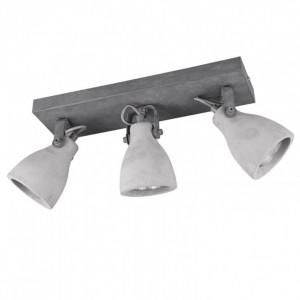 Lustra Concrete aluminiu, 3 becuri, gri, diametru 9 cm, 230 V