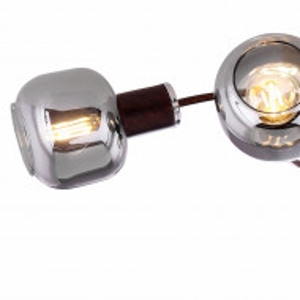 Lustra Pallo IV 5 becuri, sticla/fier, maro, 230 V