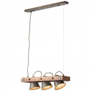 Lustra Plow Brilliant din metal / lemn, 115 x 70cm