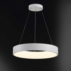 Lustra tip pendul LED Cameron I policarbonat / fier, alb, 1 bec, diametru 45 cm, 230 V