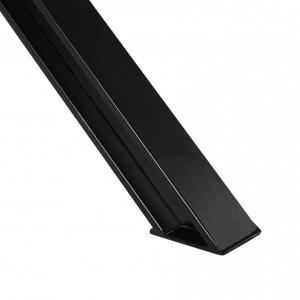 Masa BROOKE, lemn, neagra/maro, 78 x 95 x 180 cm