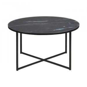 Masa de cafea Bonilla, negru, 45 x 80 x 80 cm
