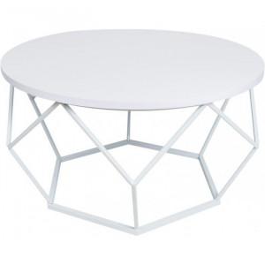 Masa de cafea Diamond, MDF/metal, alb, 70,5 x 40 cm