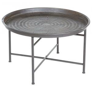 Masă de cafea Newbill, gri, 39,5 x 65 x 65 cm