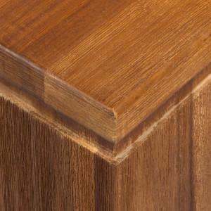 Masa de gradina Calla Millor III din lemn masiv de salcam, maro, 220 x 74 x 100 cm