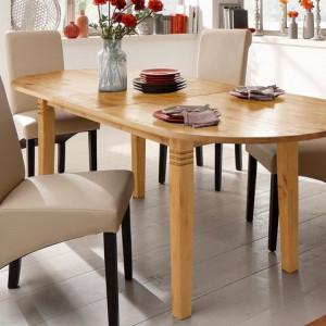 Masa extensibila Home Affaire Landhaus, lemn masiv, culoare natur, 200-240 x 100 x 75 cm