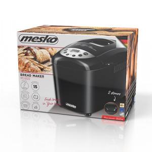 Masina de paine Mesko MS 6022, 2 palete framantare, 850 W, 15 Programe