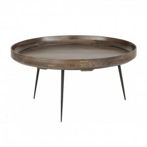 Masuta de cafea Bowl, lemn de mango/ metal, 75 x 38 cm