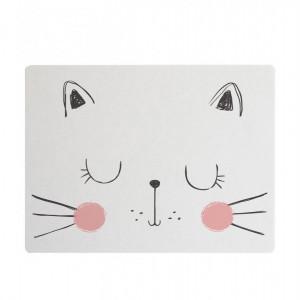Napron Cat, alb/roz/negru, 35 x 55 cm