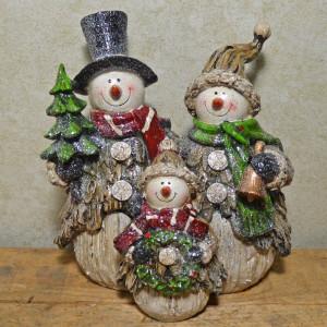 Obiect decorativ Snowman Family