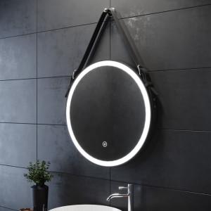 Oglindă de baie Fog Free cu LED, 60cm H x 60cm W x 3.5cm D