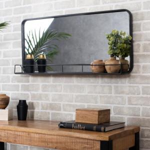 Oglindă de perete Imane, gri, 41 x 92 x 13 cm