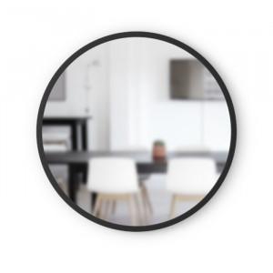 Oglindă de perete, negru, 61 x 61 cm