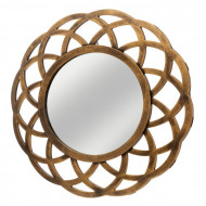 Oglinda Reinaldo, 40x40x2 cm, plastic, auriu