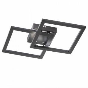 Plafoniera Elle, LED, plastic/metal, neagra, 34 x 7 x 34 cm