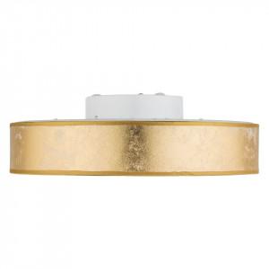 Plafoniera Ted, LED, plastic/textil, alb/aurie, 40 x 10.5 cm, 24w