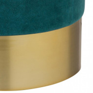 Puf Harlow din catifea verde, 42 x 38 cm