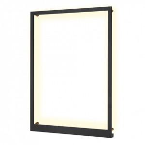 Rama LED Frame II metal/otel, 1 bec, negru, 230 V