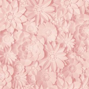 Rola de tapet floral, roz, 10,05 m