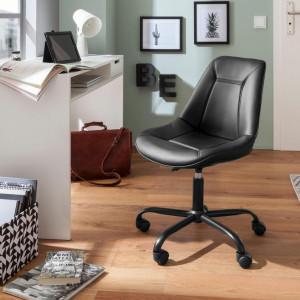 Scaun de birou Kenny - piele sintetica - negru