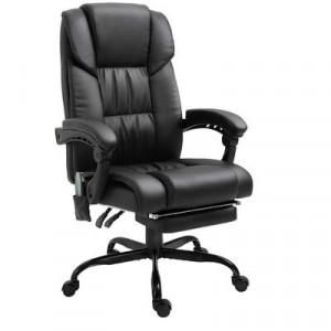 Scaun ergonomic de birou Jessup, negru, 55,5 x 53 cm