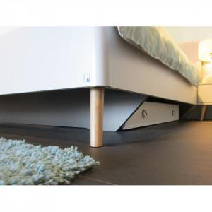 Sertar pentru pat Annett PAL/frasin, alb, 59 x 16 x 115 cm