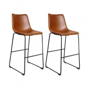 Set 2 scaune de bar Williams, H 72 cm