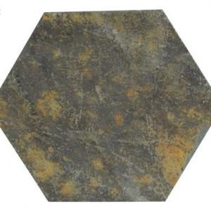 Set de 2 farfurii pentru lumanarele in forma de hexagon