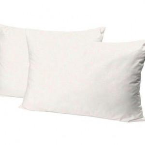 Set de 2 fete de perna Linen alb, 50x80 cm