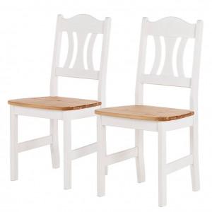 Set de 2 scaune Bastide din pin masiv lacuit