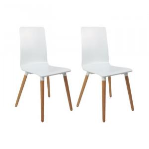 Set de 2 scaune Chau, albe, 89,5 x 41,5 x 45,5 cm