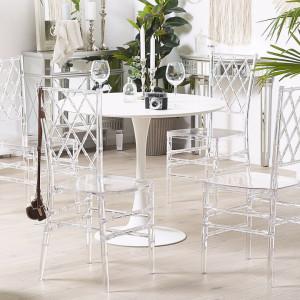 Set de 2 scaune CLARION, transparente, 40 x 40 x 92 cm