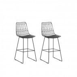 Set de 2 scaune de bar Crestline, metal, 114,5 x 48 x 57 cm