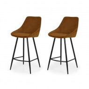 Set de 2 scaune de bar Lex, metal/plastic, 108 x 47 x 52 cm
